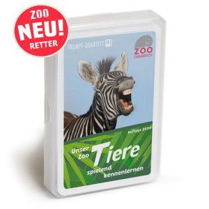 """Quartettspiel """"Zoo-Tiere spielend kennenlernen"""" (Spende: 3,- Euro)"""
