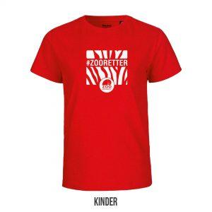 """Kinder-T-Shirt """"#ZOORETTER""""<br>(Spende: 6,- Euro)"""