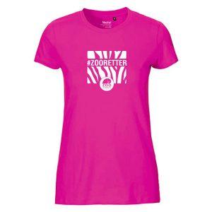 """T-Shirt """"#ZOORETTER"""" für Damen<br>(Spende: 6,- Euro)"""